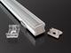 LED Profiles Surface-2 profil eloxált, LED szalaghoz, átlátszó burával