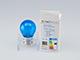V-TAC Színes LED lámpa E27 Filament (2W/300°) Kisgömb - kék
