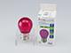 V-TAC LED lámpa E27 Színes filament (2W/300°) Kisgömb - pink
