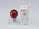 V-TAC LED lámpa E27 Színes filament (2W/300°) Kisgömb - piros