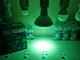 V-TAC LED lámpa E27 (15W/30°) PAR38 - zöld (IP65)