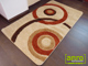 Függöny Center Shaggy szőnyeg 3 cm-es, (0041d) 3D Krém 80x250 cm