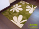 Szuper nyírt szőnyeg (0166a) Zöld 80x150 cm