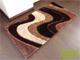 Függöny Center Shaggy Luxus szőnyeg (Choco River) 200x280 cm
