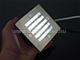 Elmark Falba süllyesztett kültéri LED lámpa, négyzet alakú, rácsos, 2 W