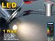 PowerLED lámpatest járófelületbe (1W/12V) meleg fényű
