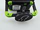 Tracon LED munkareflektor akkumulátoros (10W/120°) USB töltővel - fekete-zöld