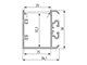 Lumines Design Unico oldalfali alu profil ezüst - opál PMMA burával