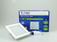 V-TAC Üveg keretes LED panel (négyzet) - 12W - meleg fényű