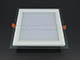 V-TAC Üveg keretes LED panel (négyzet) - 18W - meleg fényű