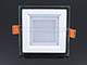V-TAC Üveg keretes LED panel (négyzet) - 6W - természetes fényű