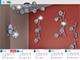 Rábalux Elle exkluzív fém-üveg spot lámpatest (G9) 6-os