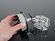 Rábalux Elle exkluzív fém-üveg spot lámpatest (G9) 3-as