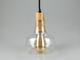 V-TAC Üvegburás lámpatest fa betéttel (E27) - magas