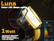 -LED dekor lámpatest Luna süllyeszthető (1W) melegfehér