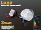 LED dekor lámpatest Luna süllyeszthető (3W) hideg fényű