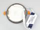 V-TAC Króm LED panel (kör alakú) 6W - hideg fehér Kifutó!