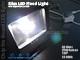 Slim LED reflektor (30W/COB/120°) Természetes fehér