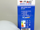 V-TAC Dome-R IP54 kültéri LED lámpa - fehér (12W) 6000K