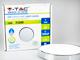 V-TAC Falon kívüli LED panel (kör alakú) 18W - króm - meleg fehér