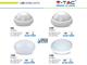 V-TAC Dome-O IP54 kültéri LED lámpa - fehér (12W) 6000K