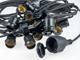V-TAC E27 foglalatos fényfüzér, fekete, IP65, 15 méter, 15 db izzóhoz