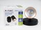 V-TAC R-Solo oldalfali spot LED lámpatest (6W) fekete, meleg f.