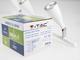 V-TAC S-Triple mennyezeti spot LED lámpatest (3x4.5W) fehér, term. f.