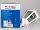 V-TAC Bolive Pendant kültéri csillár (E27) fehér