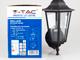 V-TAC Bolive Up kültéri oldalfali lámpa (E27) fekete