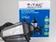 V-TAC Bolive Up kültéri oldalfali lámpa (E27) fekete, mozgásérzékelő