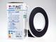 V-TAC Design kör alakú LED lámpatest Hoop, fekete (9W) meleg fehér