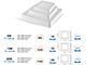 V-TAC Falon kívüli LED panel (négyszög) - 8W - hideg fényű Kifutó!
