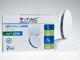V-TAC Kültéri LED lámpa Tondo, forgatható, fehér (7W) meleg fehér
