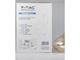 V-TAC Króm száras csillár (E27) - borostyán bura