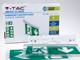 V-TAC LED vészkijárat lámpa falon kívüli, függesztődróttal (2W) hideg