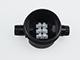 V-TAC - Led reflektorhoz vízmentes kötődoboz (fedeles) fekete IP66