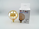 V-TAC E27 LED izzó Designer Carbon (4W/300°) G125 - extra meleg fehér (1800K)