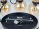 V-TAC Trio Glass üveg búrás csillár (E27) borostyán