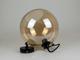V-TAC Lara üveg burás csillár (E27) - borostyán színű gömb bura