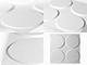 WallArt 3D 3D Falpanel - Ellipses (ellipszisek) - WallArt