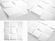 WallArt 3D Falpanel - Oberon (kockás) - WallArt