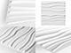 WallArt 3D Falpanel - Sands (homokdűne) - WallArt