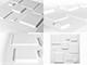 WallArt 3D Falpanel - Squares (négyzetek) - WallArt