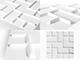 WallArt 3D Falpanel - Tetris (dominó) - WallArt