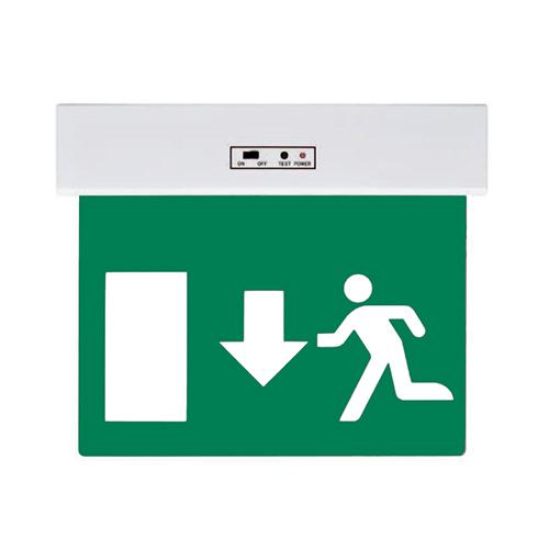 LED kijáratjelző lámpatest lefelé mutató nyíllal - fehér