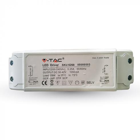 Tápegység 29 Wattos V-TAC LED panelekhez - Dimmelhető (5 év)