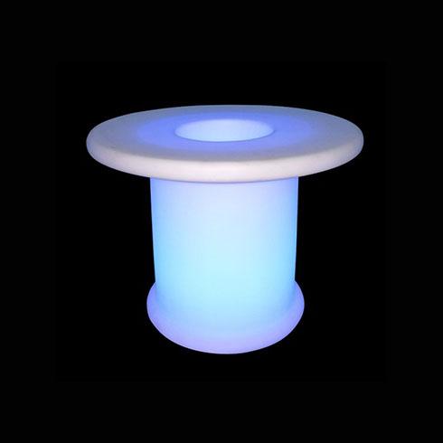 RGB LED világítású kerti bútor, akkuval, távirányítóval - kávézó asztal