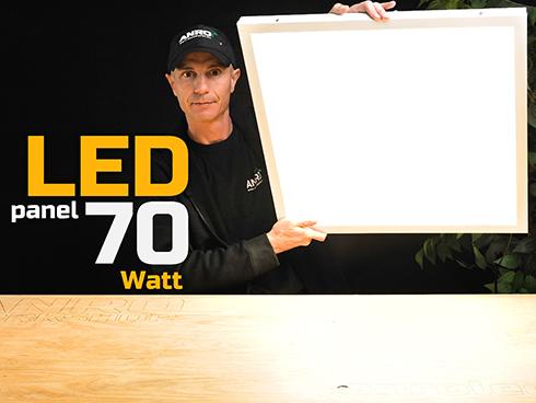 LED panel (600 x 600mm) 70W - természetes fehér, süllyeszthető / falon kívüli