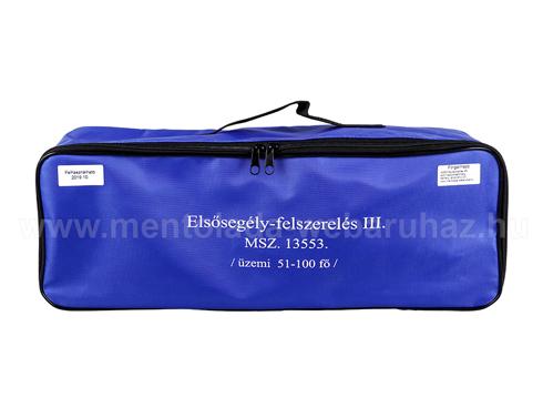 III mentőláda (kék) zipzáros táskában